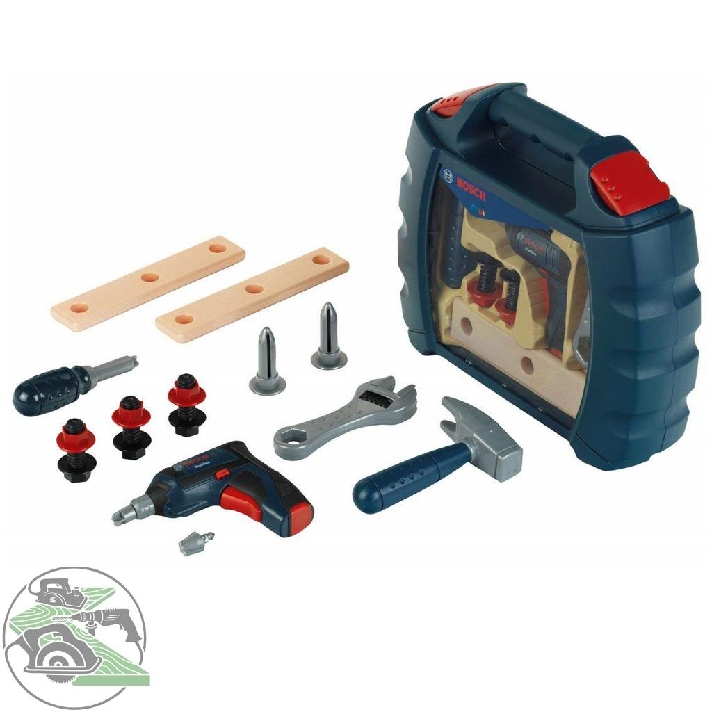 bosch theo klein mini werkzeugbox blau spielzeug akkuschrauber