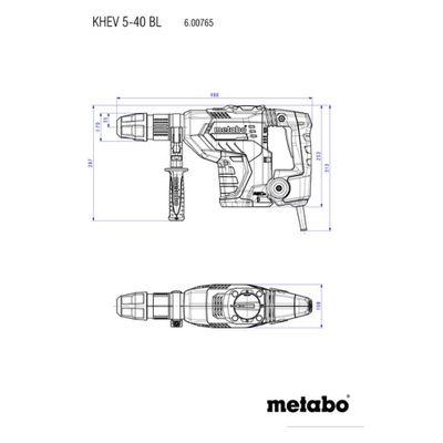 Metabo Kombihammer KHEV 5-40 BL im Kunststoffkoffer 600765500 Bohrhammer  – Bild 2