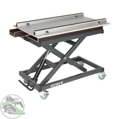 Ruwi Set Arbeitstisch HPL Lochrasterplatte mit Schubkasten und Stauraum 21065