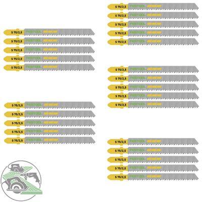 Festool Stichsägeblätter S 75 / 2,5 / 25 für PS 300 PSB 300 PS 400 PSC 400 uvm.