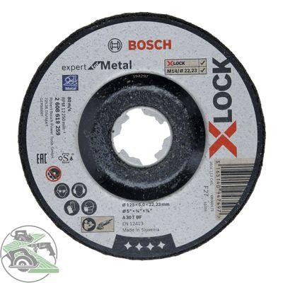 Bosch X-LOCK Schruppscheibe 125x6x22,23 mm Expert for Metal für Winkelschleifer