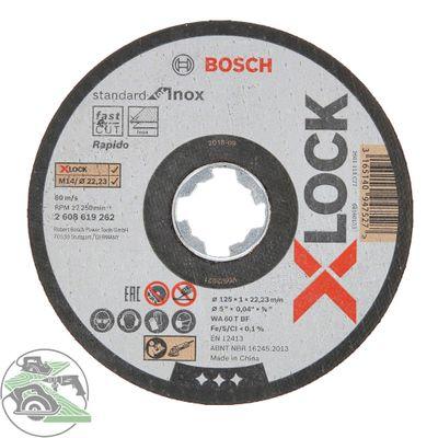 Bosch X-LOCK Trennscheibe 125x1x22,23 mm gerade Standard for Inox 10 Stück