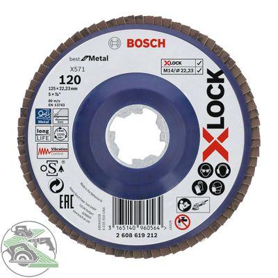 Bosch X-LOCK Fächerscheibe 125 mm K120 gerade X571 Best for Metal 2608619212