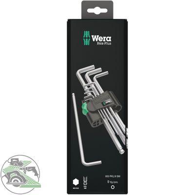 Wera 950/9 Hex-Plus 1 SB Winkelschlüsselsatz gestellverchromt 9-tlg 05073391001 – Bild 1