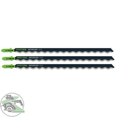 Festool Stichsägeblätter S 155/W/3 HSC Werkzeugstahl Länge 155 mm 3 Stück 204345