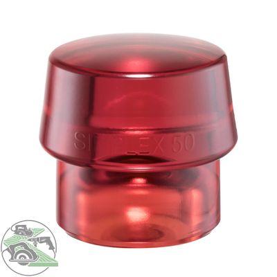 Halder Schlageinsatz für SIMPLEX Schonhammer Ø 50 mm Plastik rot 3206.050