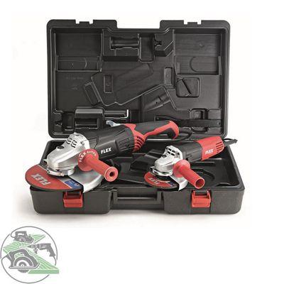 Flex Winkelschleifer Kofferset L2100 230 mm + L810 125 mm Schleifmaschine 453978 – Bild 1