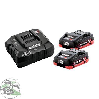 Metabo Basic-Set 2x LIHD 4,0 Ah 18V SE Ladegerät ASC55 Black Edition 685191000