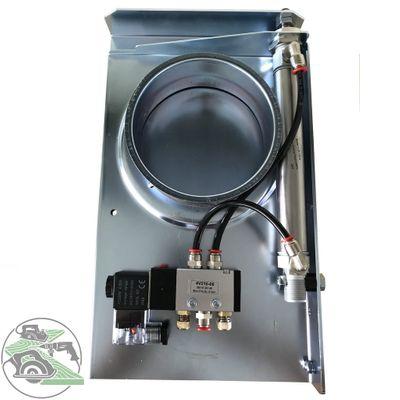 Pneumatischer Schieber Absperrschieber D80 230V Druckluft Späneabsaugung  – Bild 1