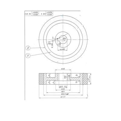 Roma Vorschubrolle Gummi 117 x 27 x 20 mm weiss für Vorschubapparat Roma 110 – Bild 2