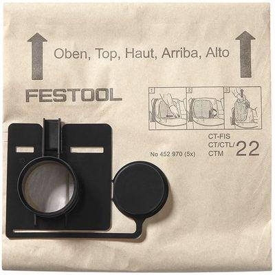FESTOOL  Filtersack FIS-CT/CTL/CTM 22/5 Nr. 452970 Filterbeutel Filtersäcke – Bild 3