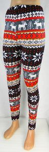 Damen Leggings Norweger Style Leggins Hose Norwegen Jeggings Rentier NEU T04 – Bild 15