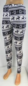 Damen Leggings Norweger Style Leggins Hose Norwegen Jeggings Rentier NEU T04 – Bild 18