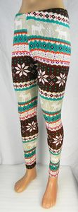 Damen Leggings Norweger Style Leggins Hose Norwegen Jeggings Rentier NEU T04 – Bild 4