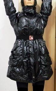 Damen Daunen Parker WINTER Jacke Steppjacke Daunenjacke Mantel glänzent Gr XL – Bild 3