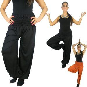 Damen Harems-Hose Pluderhose lang Pump Aladin Balon Harem Hose S M L XL XXL p1 – Bild 1