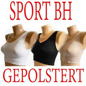 3 x Push Up BRA Sport BH FORM o. Bügel Bustier Body Top Microfaser M L XL XXL p4 – Bild 4