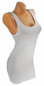 Damen Shirt EXTRA LANG Long Tank Top T-Shirt Hemd Tunika Uni 34 36 38 40 ta7 – Bild 3