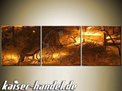 Leinwandbilder Wanduhr Designer Wandbild Leinwand Bild Küche Uhr Skyline City – Bild 2