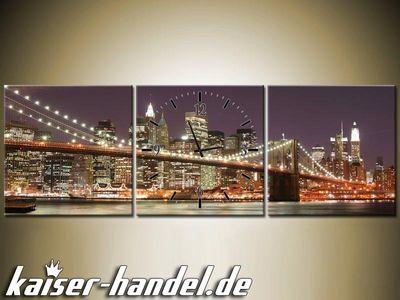 Leinwandbilder Wanduhr Designer Wandbild Leinwand Bild Küche Uhr Skyline City – Bild 7