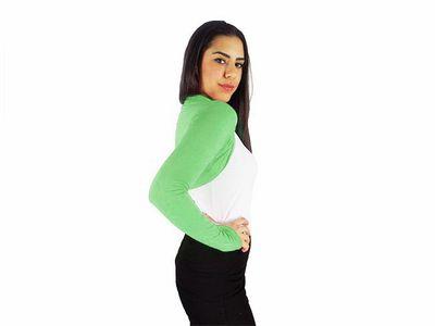 Damen Bolero Bolerojacke Jacke Langarm Top Frauen Cardigan Blazer 34 36 38 40 bol06 – Bild 16