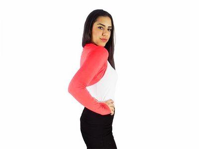 Damen Bolero Bolerojacke Jacke Langarm Top Frauen Cardigan Blazer 34 36 38 40 bol06 – Bild 9