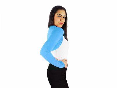 Damen Bolero Bolerojacke Jacke Langarm Top Frauen Cardigan Blazer 34 36 38 40 bol06 – Bild 2