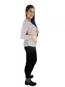 Damen Kardigan Jacke Pullover Netzhemd Cardigan Blazer Bolero Strickjacke j05 – Bild 1