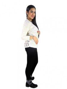 Damen Kardigan Jacke Pullover Netzhemd Cardigan Blazer Bolero Strickjacke j05 – Bild 2