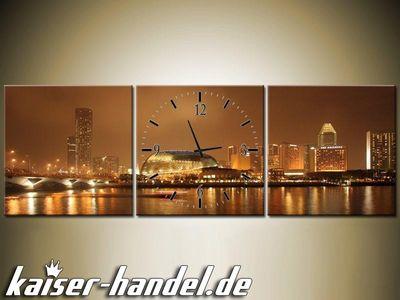 Leinwandbilder Wanduhr Designer Wandbild Leinwand Bild Büro Uhr Aussicht – Bild 6