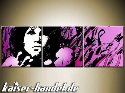 Leinwandbilder Wanduhr Wandbild Leinwand Bild Uhr The Doors Jim Morrison lwb60