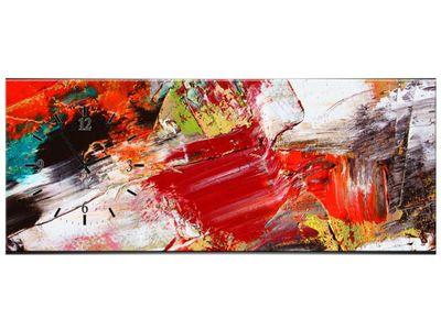 Leinwandbilder Wanduhr Wandbild Leinwand Bild XXL Küche Uhr 100x40 cm – Bild 14