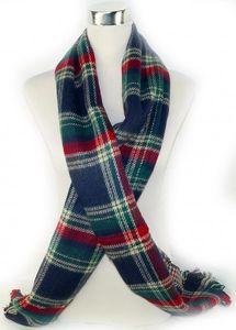 Karo Wende Schal Halstuch Doppel Zwei Seitig Hals Tücher Tuch Kariert 200cm x 55 Winter Herbst Weihnachten scl10 – Bild 3