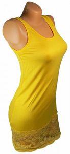 Damen Long Shirt mit Spitze T-Shirt Hemd Tunika Kleid Mini Rock BH Bluse NEU ta4 – Bild 2