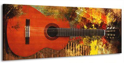 Leinwand Bild Bilder Gitarre E-Gitarre Musik Rock Pop Country Jazz Soul 180 x 70 cm wt07-13