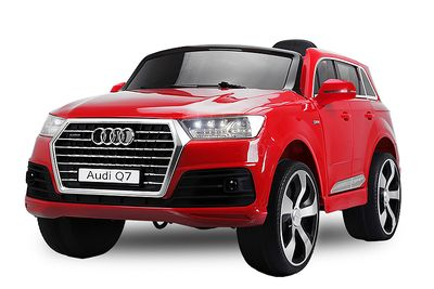 Audi Q7 Kinder Elektro Auto Fernbedienung LED MP3 2x 35 Watt rot – Bild 1