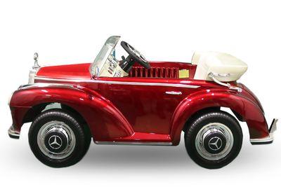 Luxus Kinder Elektro Auto MERCEDES 300 SL Oldtimer Roadster Fernsteuerung MP3 2x 35W gold – Bild 3
