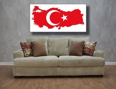 Leinwandbild Türkei Türkiye Canvas Tablo Resim Fahne Bayrak – Bild 2