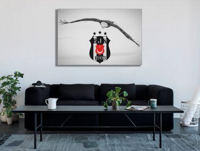 Leinwandbild Bjk Besiktas Istanbul Kara Kartal black-red – Bild 2
