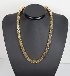 Luxus Königskette Panzerkette Edelstahl Halskette Farbe gold – Bild 8