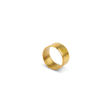 "Ring ""Thick Band"" - aus Altmessing"