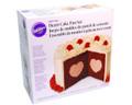 Backform für Kuchen mit Füllung, Heart Tasty-Fill Motivbackform, Wilton