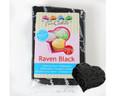 Fondant Raven Black, Rollfondant schwarz mit Vanille-Geschmack 250g, FunCakes