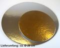 Cakeboard silber/gold ca. 26 cm, Tortenunterlage, Karton, FunCakes