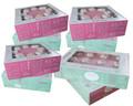 Cake Box Set -Quotes-, 4x2er-Set Kuchenschachtel, Tortenkarton