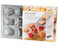 Backform Kekskonfekt Sommer-Motive 2 Silikon Plätzchenformen Teigkarte