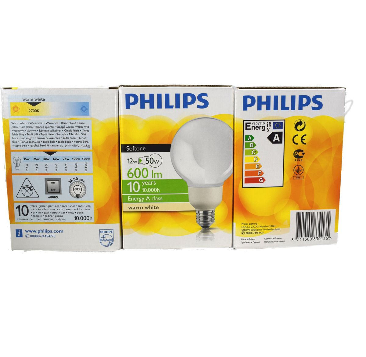 philips softone energie saver lampe birne 12 watt warmwei. Black Bedroom Furniture Sets. Home Design Ideas