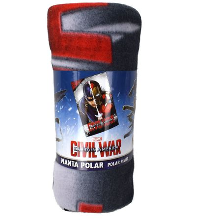 Marvel Captain America Civil War Fleecedecke Decke 150 x 100 cm