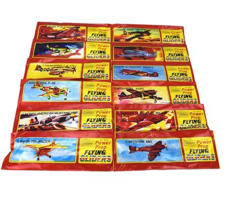 12x Styroporflugzeug Flieger sortiert