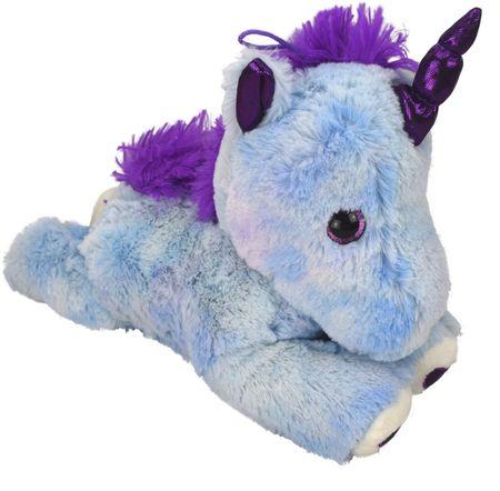 Einhorn blau lila Plüsch Plüschfigur Kuscheltier Puppe Teddy 30cm